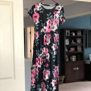 Boutique Maxi Dress with black background